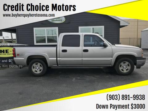 2005 Chevrolet Silverado 1500 for sale at Credit Choice Motors in Sherman TX
