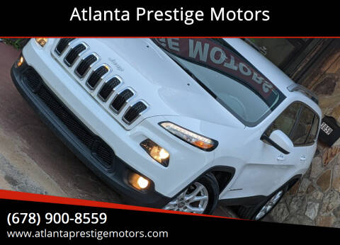 2016 Jeep Cherokee for sale at Atlanta Prestige Motors in Decatur GA
