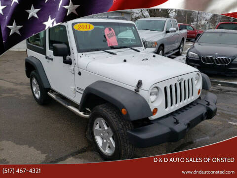 2011 Jeep Wrangler for sale at D & D Auto Sales Of Onsted in Onsted   Brooklyn MI