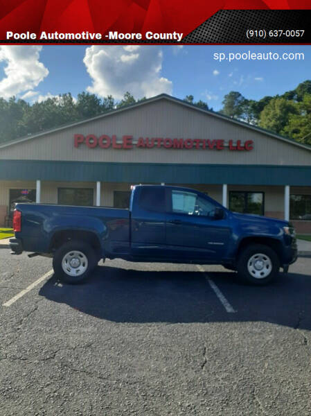 2019 Chevrolet Colorado for sale at Poole Automotive in Laurinburg NC