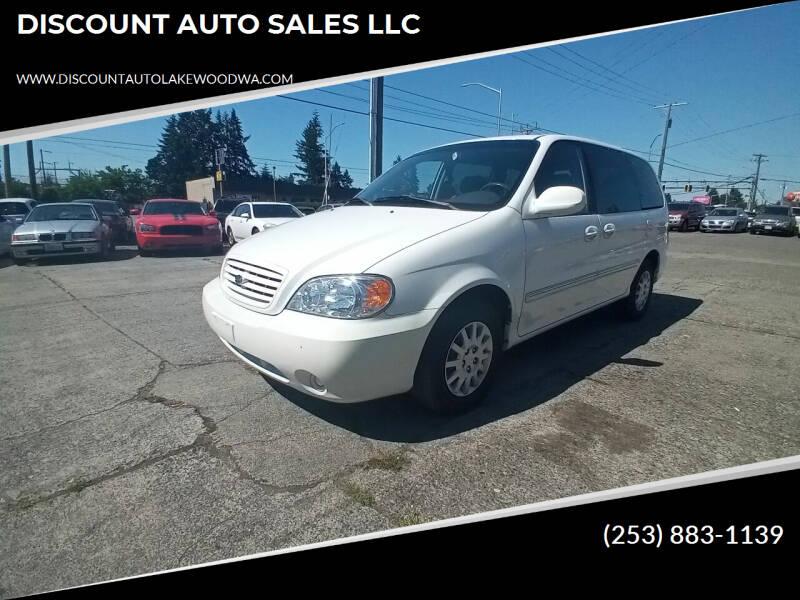 2003 Kia Sedona for sale at DISCOUNT AUTO SALES LLC in Lakewood WA
