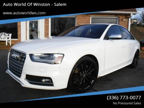 2013 Audi S4 for sale at Auto World Of Winston - Salem in Winston Salem NC