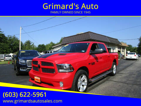2016 RAM Ram Pickup 1500 for sale at Grimard's Auto in Hooksett NH