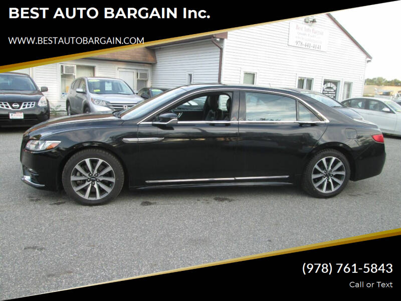 2017 Lincoln Continental for sale at BEST AUTO BARGAIN inc. in Lowell MA