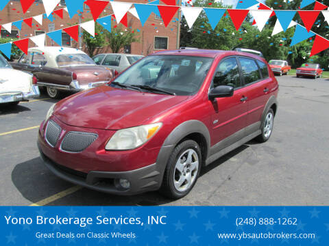 2007 Pontiac Vibe for sale at Yono Brokerage Services, INC in Farmington MI