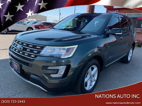 2016 Ford Explorer for sale at Nations Auto Inc. in Denver CO