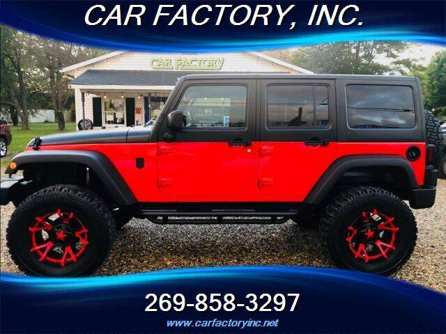 2017 Jeep Wrangler Unlimited for sale at Car Factory Inc. in Three Rivers MI