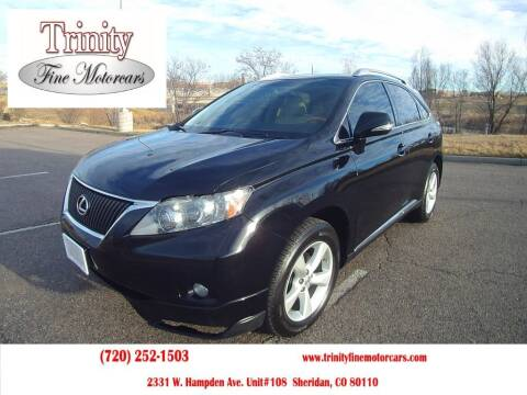 2010 Lexus RX 350 for sale at TRINITY FINE MOTORCARS in Sheridan CO