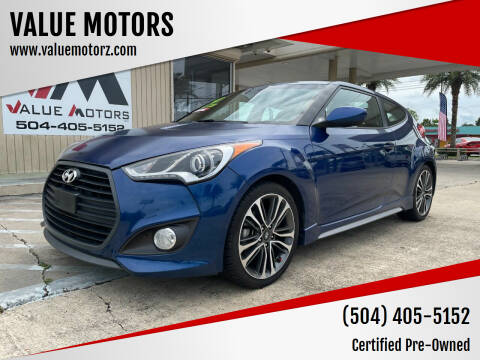 2016 Hyundai Veloster for sale at VALUE MOTORS in Kenner LA