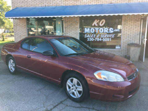 2006 Chevrolet Monte Carlo for sale at K O Motors in Akron OH