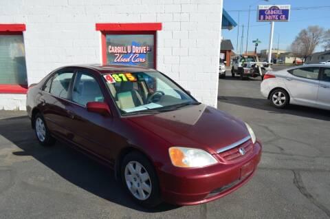 2002 Honda Civic for sale at CARGILL U DRIVE USED CARS in Twin Falls ID