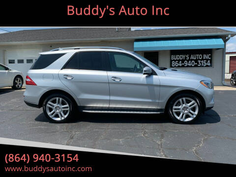 2014 Mercedes-Benz M-Class for sale at Buddy's Auto Inc in Pendleton, SC