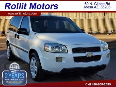 2008 Chevrolet Uplander for sale at Rollit Motors in Mesa AZ