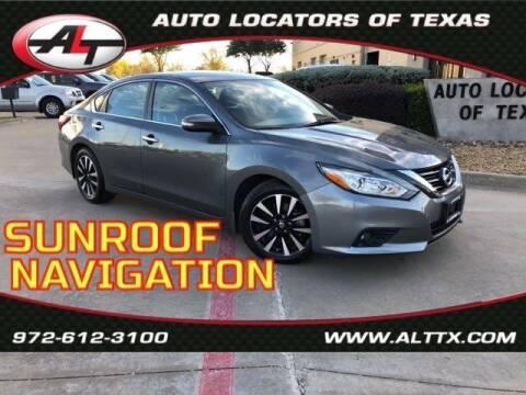 2018 Nissan Altima for sale at AUTO LOCATORS OF TEXAS in Plano TX