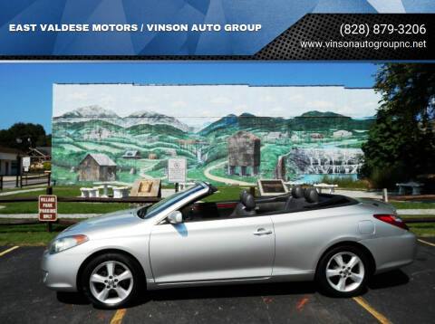2006 Toyota Camry Solara for sale at EAST VALDESE MOTORS / VINSON AUTO GROUP in Valdese NC