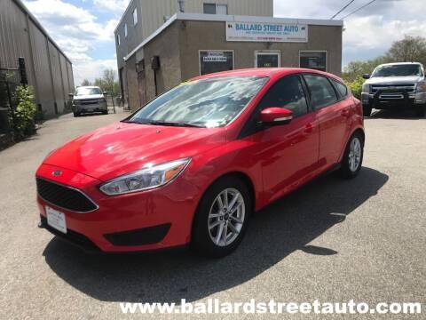 2016 Ford Focus for sale at Ballard Street Auto in Saugus MA