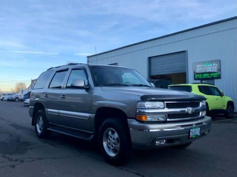 2001 Chevrolet Tahoe for sale at DASH AUTO SALES LLC in Salem OR