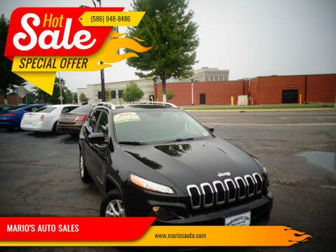 2016 Jeep Cherokee for sale at MARIO'S AUTO SALES in Mount Clemens MI