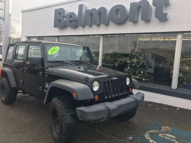 2007 Jeep Wrangler Unlimited for sale at BELMONT DODGE CHRYSLER JEEP in Barnesville OH