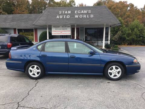 2003 Chevrolet Impala for sale at STAN EGAN'S AUTO WORLD, INC. in Greer SC