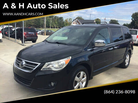 2011 Volkswagen Routan for sale at A & H Auto Sales in Greenville SC