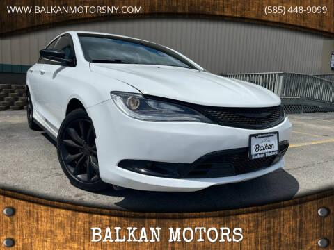 2015 Chrysler 200 for sale at BALKAN MOTORS in East Rochester NY