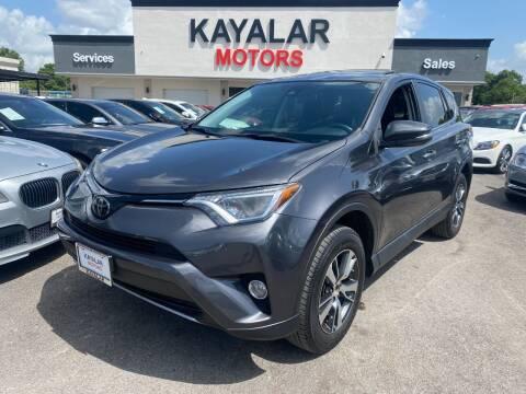2018 Toyota RAV4 for sale at KAYALAR MOTORS in Houston TX
