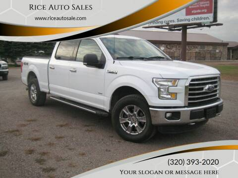2016 Ford F-150 for sale at Rice Auto Sales in Rice MN