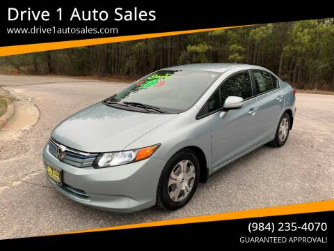 2012 Honda Civic for sale at Drive 1 Auto Sales in Wake Forest NC