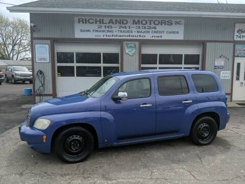 2009 Chevrolet HHR for sale at Richland Motors in Cleveland OH