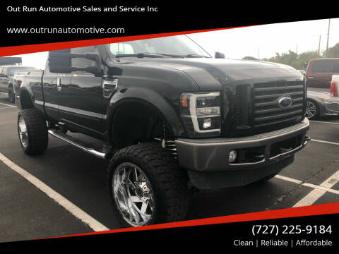 2009 Ford F-250 Super Duty for sale at Out Run Automotive Sales and Service Inc in Tampa FL