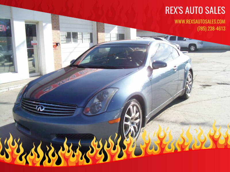 2005 Infiniti G35 for sale at Rex's Auto Sales in Junction City KS