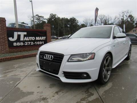 2012 Audi A4 for sale at J T Auto Group in Sanford NC