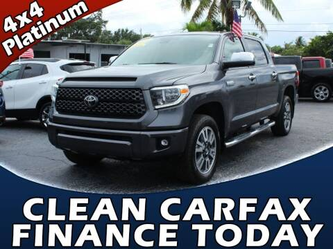 2018 Toyota Tundra for sale at Palm Beach Auto Wholesale in Lake Park FL