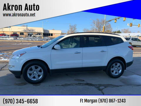 2012 Chevrolet Traverse for sale at Akron Auto - Fort Morgan in Fort Morgan CO