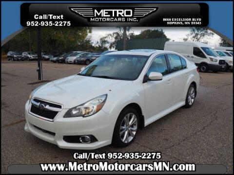 2014 Subaru Legacy for sale at Metro Motorcars Inc in Hopkins MN