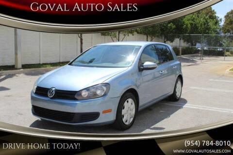2011 Volkswagen Golf for sale at Goval Auto Sales in Pompano Beach FL
