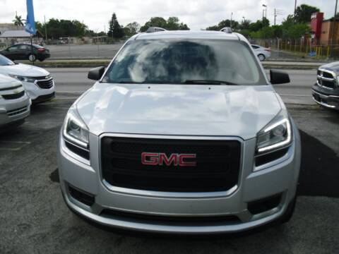 2016 GMC Acadia for sale at SUPERAUTO AUTO SALES INC in Hialeah FL