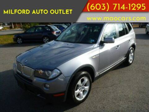 2007 BMW X3 for sale at Milford Auto Outlet in Milford NH