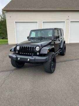 2017 Jeep Wrangler Unlimited for sale at Interstate Fleet Inc. Auto Sales in Colmar PA