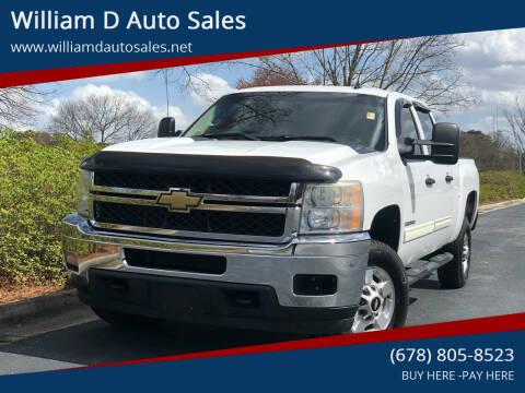 2011 Chevrolet Silverado 2500HD for sale at William D Auto Sales in Norcross GA
