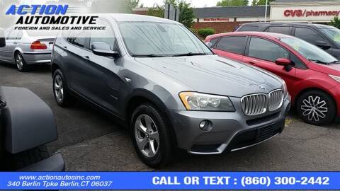 2011 BMW X3 for sale at Action Automotive Inc in Berlin CT