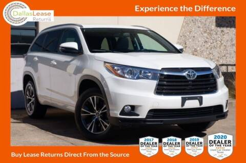2016 Toyota Highlander for sale at Dallas Auto Finance in Dallas TX