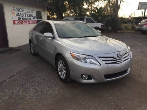2010 Toyota Camry for sale at Excellent Autos of Orlando in Orlando FL