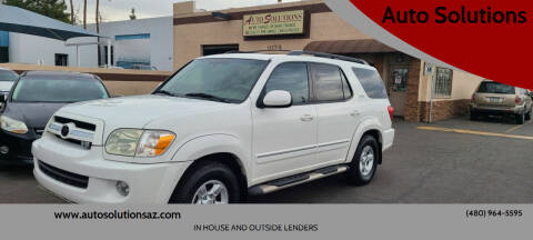 2005 Toyota Sequoia for sale at Auto Solutions in Mesa AZ