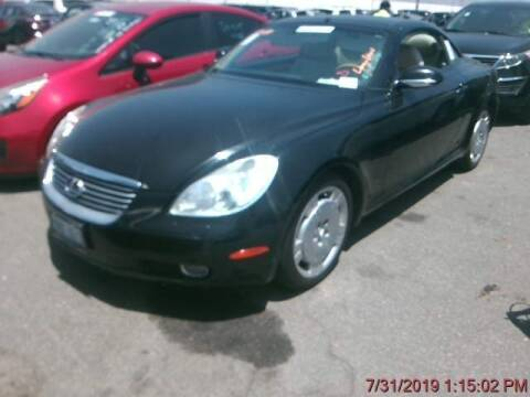 2002 Lexus SC 430 for sale at Trini-D Auto Sales Center in San Diego CA