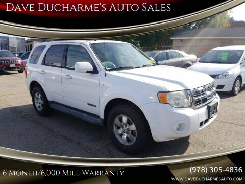 2008 Ford Escape for sale at Dave Ducharme's Auto Sales in Lowell MA