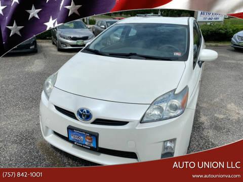 2010 Toyota Prius for sale at Auto Union LLC in Virginia Beach VA