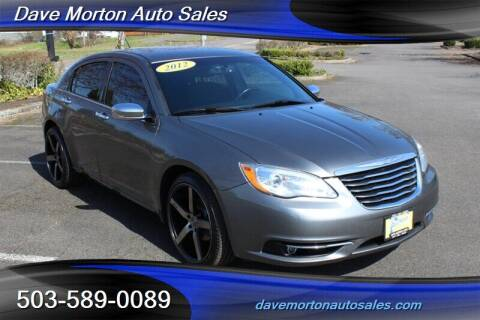 2012 Chrysler 200 for sale at Dave Morton Auto Sales in Salem OR
