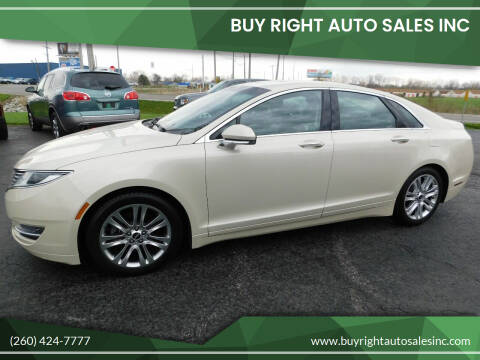 2015 Lincoln MKZ for sale at Buy Right Auto Sales Inc in Fort Wayne IN